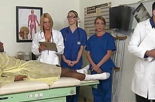 CFNM nurse Krissy Lynn group sex action.  xxx porn
