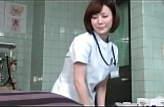 Subtitled Japanese female doctor gives patient handjob.  xxx porn