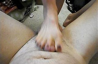 Misshotwife Painful Footjob for Husband.  xxx porn