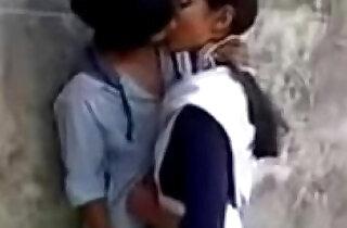 Latest New Hot School Girl Kissing on Garden.  xxx porn