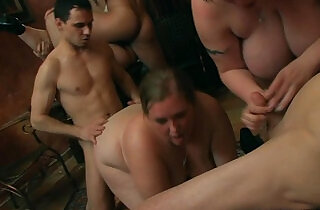 Chubby girl takes on two cocks from both sides.  xxx porn