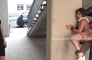Blonde humiliated in public bondage sex on the streets and on bus in hard deep anal.  xxx porn