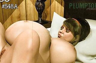 Plumptopia Animation BBW rapid pregnancy belly.  xxx porn