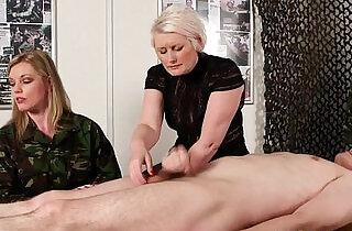 Femdom army milf Holly Kiss tugs recruit.  xxx porn