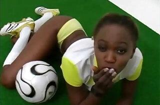 Sporty and exotic ebony girl teasing.  xxx porn