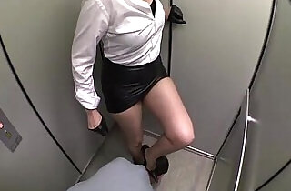 ballbusting, foot trampling and gloves faceslapping at the elevator.  xxx porn