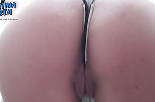 Tight and Round Teen Ass and Puffy Pussy Lips. Thong inside..  xxx porn