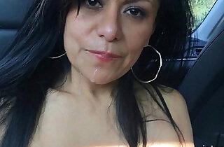 MexiMILF Gabby Quinteros is a BackSeat BJ Slut!.  xxx porn