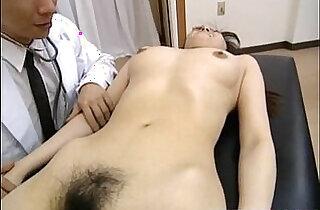 Saki Shiina has hairy cunt measured and sucks doctor phallus.  xxx porn