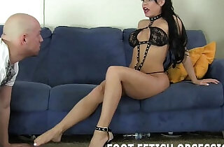 Get on your knees and worship my feet like a good slave.  xxx porn