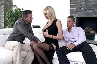Glamour babe anally in threesome.  xxx porn