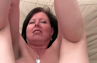 British mom Julie with her big tits and hairy pussy finger fucked.  xxx porn