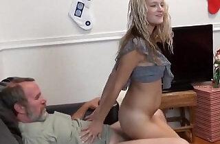 Teen fucks old guy for xmas.  xxx porn
