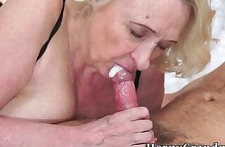 Old granny gives a nice blowjob.  xxx porn