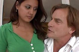 Bad stepfather fucks pussy his beauty brunette daughter.  xxx porn