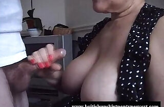 British granny lifts her skirt and lets fuck her tight panties.  xxx porn
