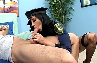 Brunette in fishnet stockings and heels fucking.  uniform fuck   xxx porn