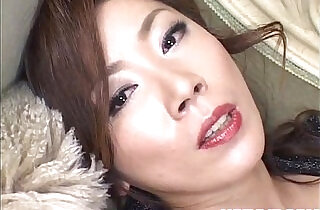 Japanese Model has vibrator on clitoris.  xxx porn