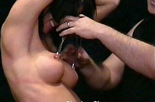 Busty Danii Blacks kinky tit tortures and extreme nipple stretching and hot wax.  hornylesbo  ,  nippled  ,  tits   xxx porn