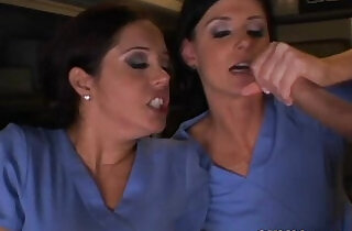 Femdom nurse in CFNM group facialized.  xxx porn