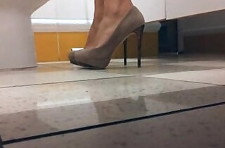 Milf with heels in the WC.  xxx porn