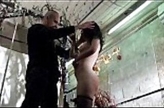Bizarre humiliation and strict whipping of amateur slavegirl Fae Corbin in kinky.  xxx porn