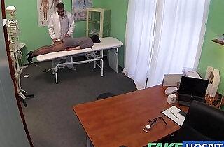 Fake Hospital G spot massage gets hot brunette patient wet.  xxx porn