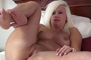 tanned blonde gaped and stretched by extreme dildo in her pussy is red swollen,and sore.  xxx porn