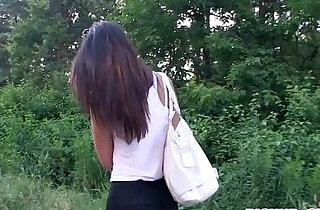 Tight girl Casey Jordan fucked in public place for money.  xxx porn