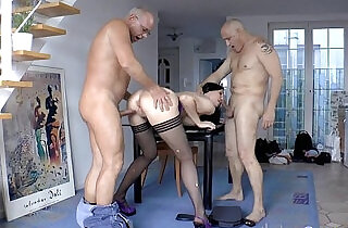 English milf double penetration in trio.  xxx porn