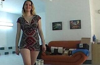 Amateur chick lapdances in black boots.  xxx porn