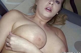Huge juggs amateur busty brunette Eurobabe Alexa sex for cash.  xxx porn