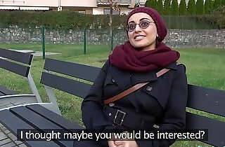 Public Agent Afghan beauty pays to fuck a big cock.  xxx porn