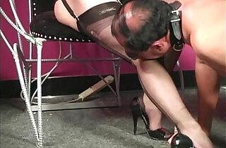 Nylon Mistress Whipping.  xxx porn