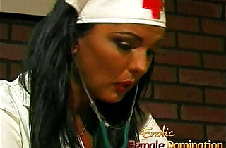 Busty nurse fucks her kinky patient with giant strap.  xxx porn