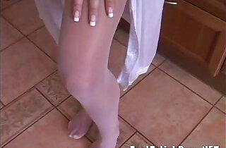 Small tits and tight nylon sexy feet.  xxx porn