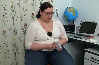 Slender stud seduced by plump teacher in nerdy glasses.  xxx porn