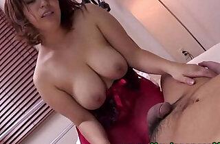 Busty oriental MILF gives good head and titjob.  xxx porn