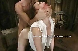 Babe in violent deepthroat sex video.  xxx porn