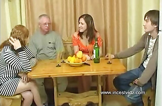 FamilySex Usual family dinner turns into a party.  xxx porn